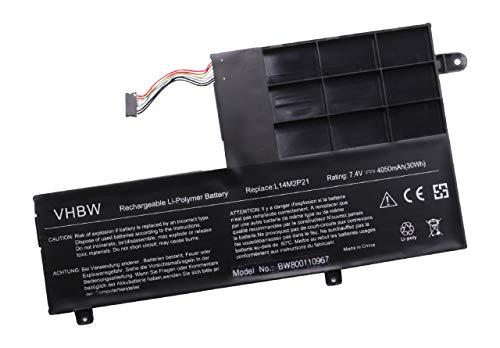 vhbw Li-Polymer Batterie 4050mAh (7.4V) pour Tablette, Netbook Lenovo S41, S41-35, S41-70, S41-70-ISE, S41-70AM, S4175 comme L14L2P21, L14M2P21.