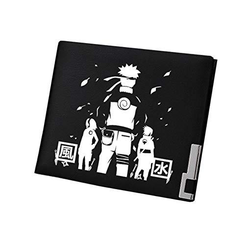 A-Gavvzq Cartera de Anime Cartera De Regalo De Anime Naruto Naruto Anime Purse PU Leahter Short Wallet ID Card Holder Monedero Mujer Regalo De Estudiante, 16