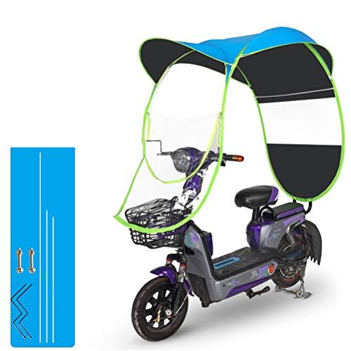 GFYWZ Motorrad-Regenschirm-Sonnenschutz-Regenschutz, Universal-Fahrrad-elektrischer faltender wasserdichter Regenschirm,D