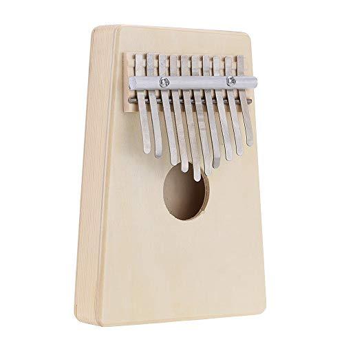 Piano de pulgar 10 Tecla Mbira Dedo pulgar Música Piano Hollow Pine Educación Juguete Instrumento musical para amante de la música y principiante