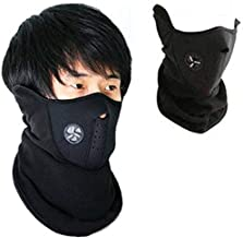 Exseson Men's Fabric Face Mask for Bikers Dust Protection With Best Quality(Black)