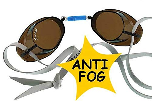 Sport-Thieme Beco - Occhialini da nuoto anti-appannamento, taglia unica, colore: Argento/Grigio