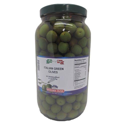 Madama Oliva Italian Green Olives Alla Calce, 4.2 Pound
