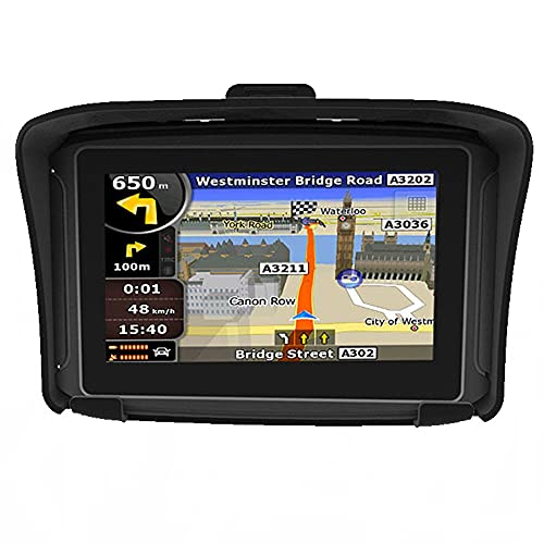 MWEIMA 4.3 Inch Motorcycle GPS Navigation Device, Strong Waterproof,with Motorcycle Special Bracket and Equipment Protection Cover, Suitable for All Motorcycles