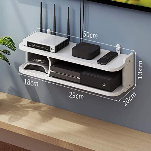 Estantes de Pared para componentes de TV, consolas multimedia montadas en la pared, cajas de almacenamiento para decodificadores de cable / enrutadores / controles remotos / reproductores de DVD 50cm