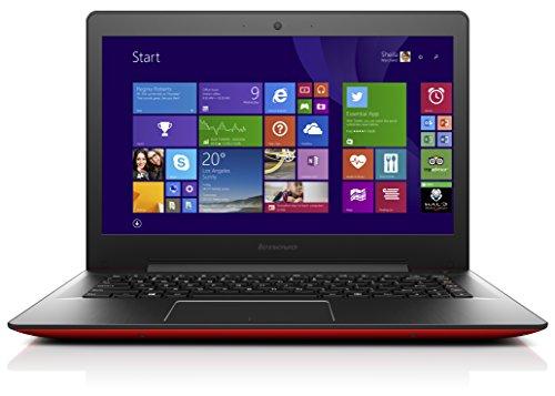 Lenovo U41-70 35,6 cm (14 Zoll Full HD Matt) Ultrabook (Intel Core i3-5005U, 2GHz, 4GB RAM, 500GB HDD, Intel HD Grafik, Windows 8.1) rot