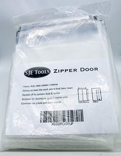 SJE Tools - Clear Plastic Temporary Dust Containment Zipper Door Reusable Zipdoor Easy Install