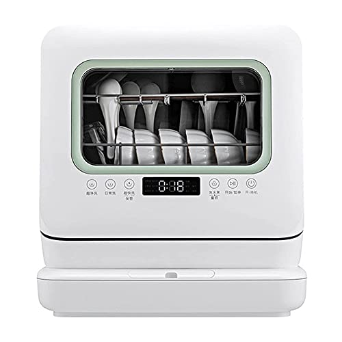 MNSSRN Fully Automatic Dishwasher, Intelligent Independent Drying, with 5 Position Settings, LED Touch Control, Including Faucet Adapter