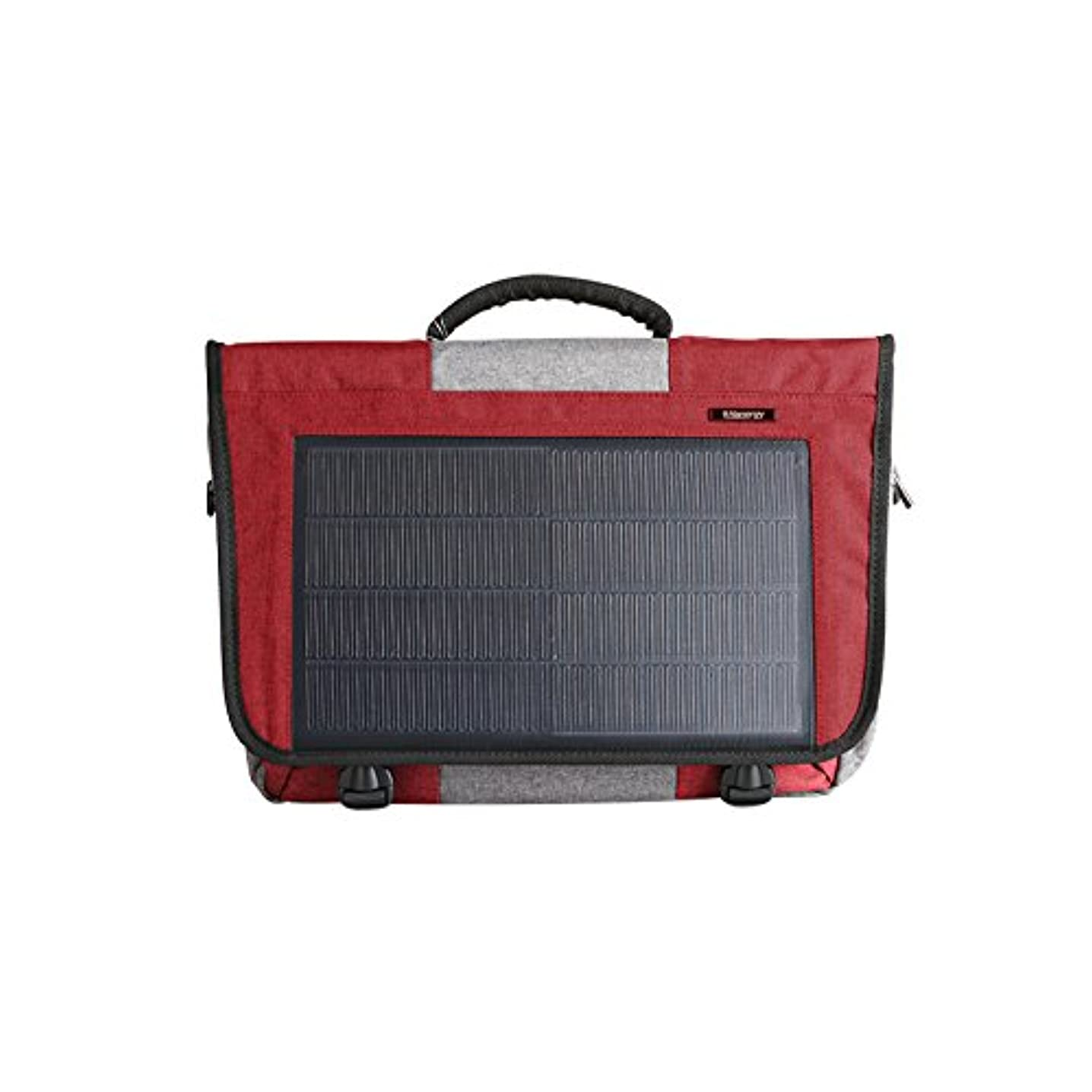 HANERGY 8W Solar Powered Laptop Computer Messenger Bags Electronics Bags Business Office Cases (Red)