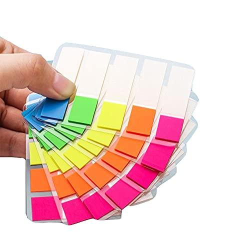Marcadores De Página En Color, Marcadores Adhesivos, Notas Adhesivas Índices, Flag Tabs, Notas Adhesivas Índices Marcadores Adhesivos, Para Notas, Libros,600 Piezas/6 Juegos, 5 Colores