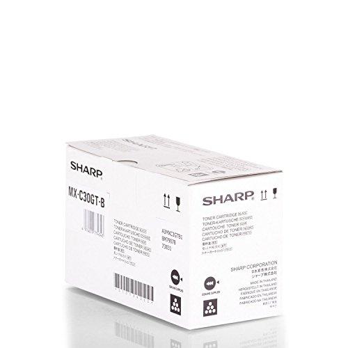 Original Sharp MXC-30 GTB /, für MX-C 300 Series Premium Drucker-Kartusche, Schwarz, 6000 Seiten