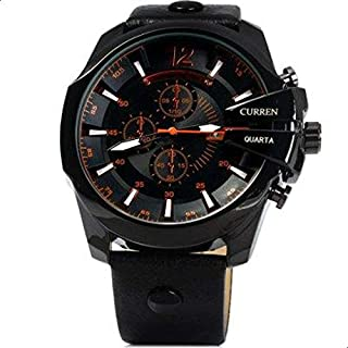 Curren Men's Analog Leather Watch 8176