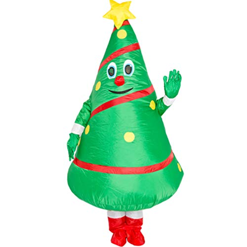 Unisex Adult Christmas Tree Costume Cosplay Inflatable Funny Festive Suit
