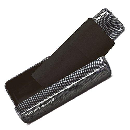Pierre Cardin Regenschirm Taschenschirm Minischirm Carbon-Optik