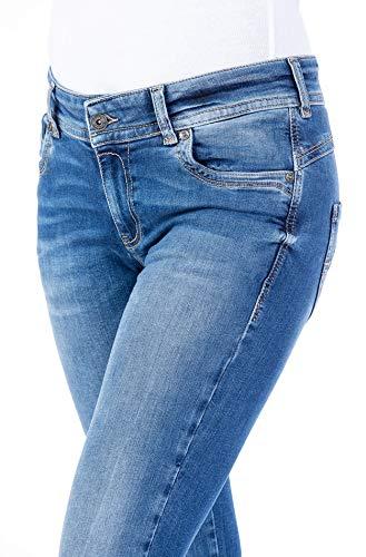 Blue Monkey Women Laura 0001 Blue Denim Skinny Jeans Damen Hose