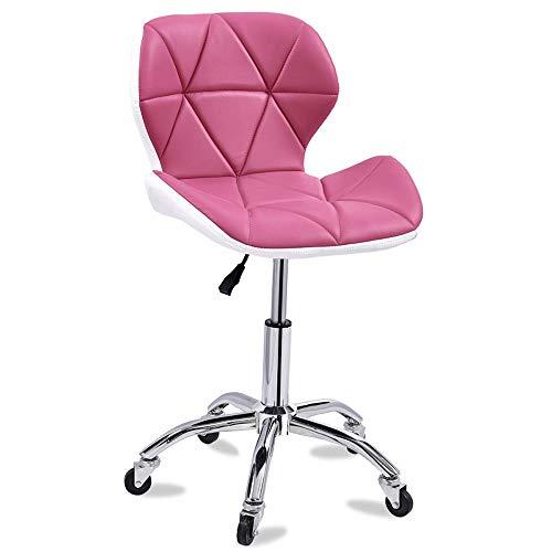 ZQY draaistoel, PU-leer, verstelbaar, voor computers, bureaustoel, 360 graden draaibaar, hoog ontvangstvermogen Oro rosa + oro rosa