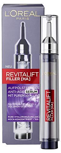 L'Oréal Paris Revitalift Filler Aufpolsterndes Anti-Age Serum mit Hyaluronsäure, Hochdosiertes Hyaluron Gesichtsserum, Anti-Aging Gesichtspflege, 16ml