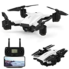 5G Wifi FPV Transmission&1080P Camera- The build in 1080p camera allows you to capture high-quality video and aerial photos.At the same time,images or videos will be transmitted to the screen of your phone via 5GHz wifi, which is efficient and superi...