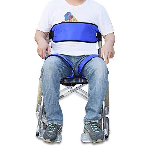 Verstellbarer Sicherheitsgurt für Rollstühle, Sicherheitsgurt für Rollstühle, Sicherheitsgurte für Rollstühle, Sicherheitsgurt, Rutschfester für Rollstuhlsitze, fester Gurt für ältere Menschen(Blau)
