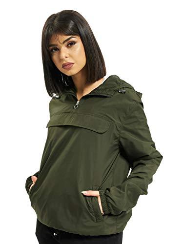 Urban Classics Damen Übergangs-Jacke Ladies Basic Pull-Over Jacket ,darkolive ,XXL