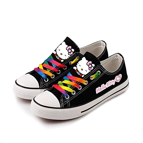 Unisex-Segeltuchschuhe Hello Kitty Hi-Top Light Sneakers Modische Schnürschuhe