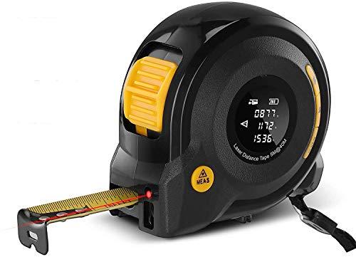 Elikliv Cinta Métrica Digital, Telémetro Láser 40m con Pantalla LCD, Medidor de Distancia Láser Herramienta 2-en-1 Portátil de Medición de Mano para Decoración y Infraestructura