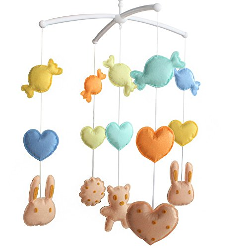 Berceau de lit de bébé rotatif coloré jouets de bébé [Cookie Bear]