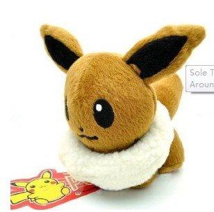 Pokemon - Pupazzo di peluche Eevee, grandezza: circa 12 cm
