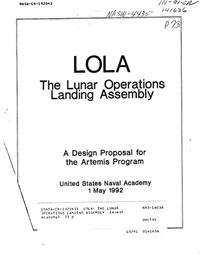 LOLA: The lunar operations landing assembly (English Edition)