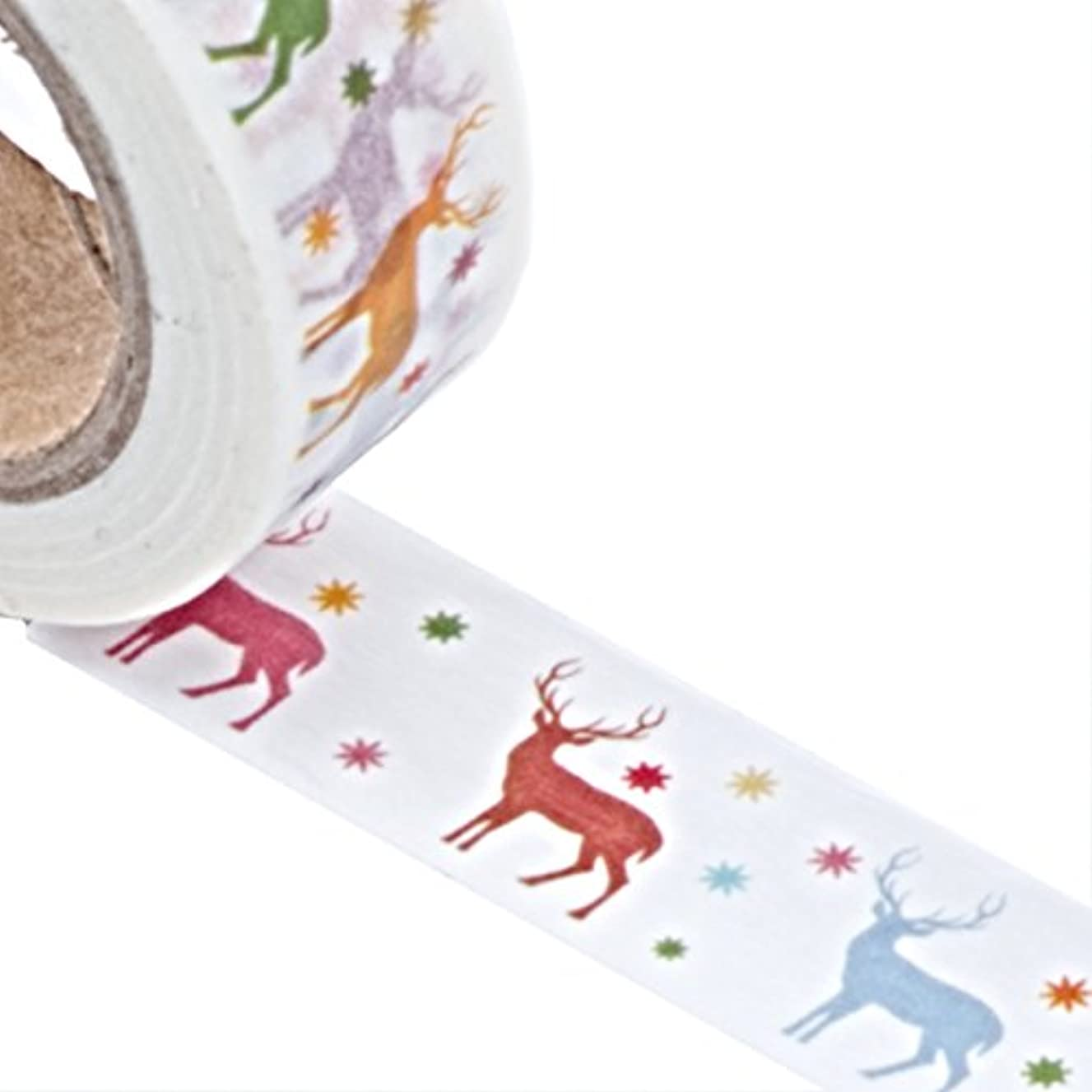 Deer in the Forest Washi Tape Roll 9/16 Inches x 10 Yards