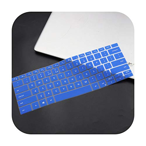 Silicone Laptop Keyboard Cover for Dell Xps 13 9300 7390 2020 / Xps 15 9500 2020 / Xps 17 9700 2020-Blue