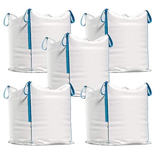 Big Bag - Transportsack für Bauschutt, Holz, Gartenabfall, Sand etc. - 90x90x90 cm, Tragfähigkeit 1000 kg (5)