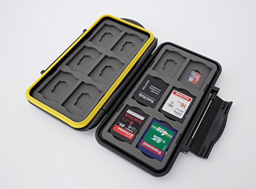 Ares Foto Caja de protección • Almacenamiento de tarjeta de memoria para 12 SD y 12 Micro SD tarjetas • funda guardar porta caja bolsa • New Edition 2019