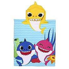 CERDÁ LIFE'S LITTLE MOMENTS-Toalla Poncho Playa Niño de Baby Shark de Microfibra-Licencia Oficial Nickelodeon, Color 2200007331