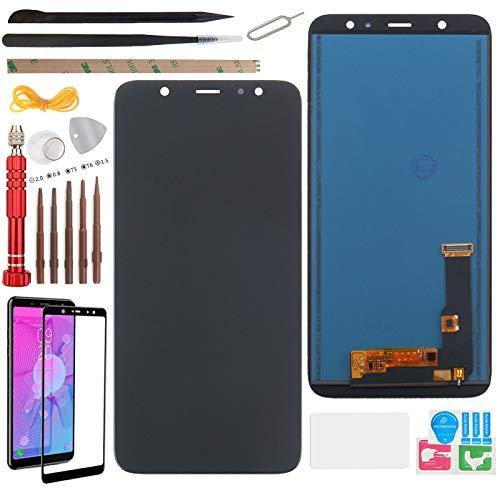 """YHX-OU 6.3"""" per Samsung Galaxy A6 Plus 2018 A605 A6+ 2018 A605F SM-A605FN A605G di Riparazione e Sostituzione LCD Display Touch Screen Digitizer con Utensili Inclusi (Nero)"""