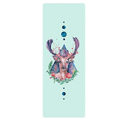 L&Y Tapis De Yoga Multifonctionnel Pliable Et Antidérapant Portable | Caoutchouc Naturel Écologique | Fibre Microcristalline Ultra-Douce | Bikram Et Yoga Chaud | 183 * 66 * 1Cm,R