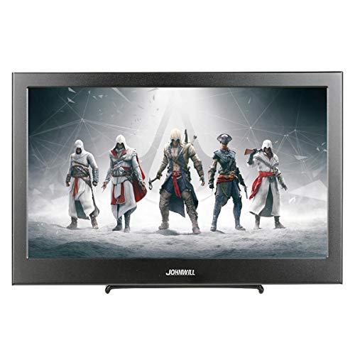11,6 Zoll VGA tragbarer Bildschirm Ultra HD 1920 x 1080 IPS LCD/LED tragbarer Monitor HDMI VGA Port, Lautsprecher eingebaut, Metallgehäuse schwarz,JOHNWILL
