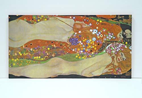 Lienzo Gustav Klimt Serpientes DE Agua II (P2581)- Impreso en Canvas de 320gr de algodón.Tensado sobre Bastidor de Madera de Pino de 2 cm de Grosor -Acabado Mate (40x80cm)