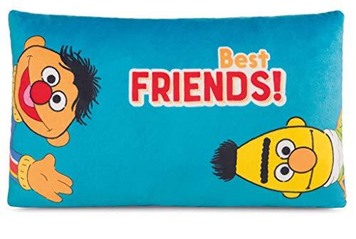 NICI 43512 Rechteckiges Kissen Ernie und Bert, Blau