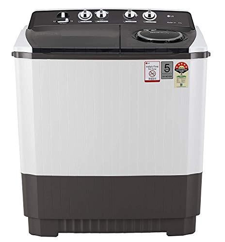 LG 10 kg 5 Star Semi-Automatic Top Loading Washing Machine (P1045SGAZ, Grey, Wind Jet Dry)