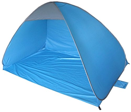 KandyToys Pop Up Beach Shelter Tent | 2-3 Person Automatic Sun Protection | 200 x 120cm