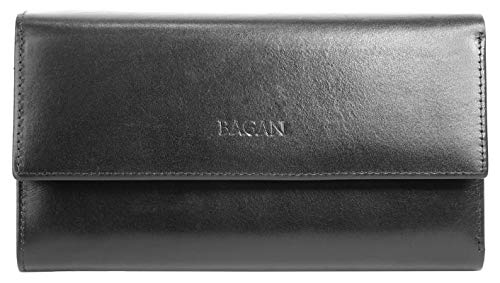 Bagan Geldbörse Echt Leder schwarz Damen - 018956