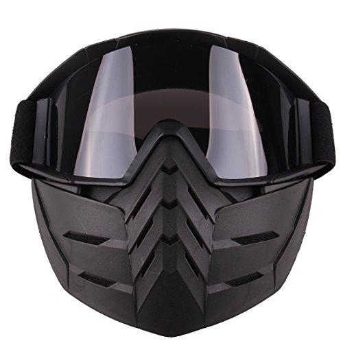 BANDRA Taktische Maske Schutzbrillen Halbe Gesichtsmaske für Airsoft Paintball Nerf CS