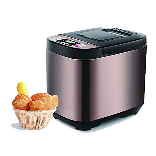 TongBao Máquina automática para Hacer Pan, Máquina para Hacer Pan rápida Inteligente, Pantalla táctil Totalmente automática de 500 W, Pantalla LCD, 3 Colores quemados, 19 menús, Tiempo de Cita