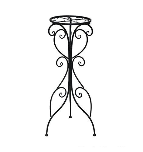 MLHJ NNIU Schmiedeeisen Blume Regal Single-Layer-Boden Balkon Innen Wohnzimmer grüne Dianthus Terrarium Blumentopf Topf Rack modernen minimalistischen Europa und den Vereinigten Staaten