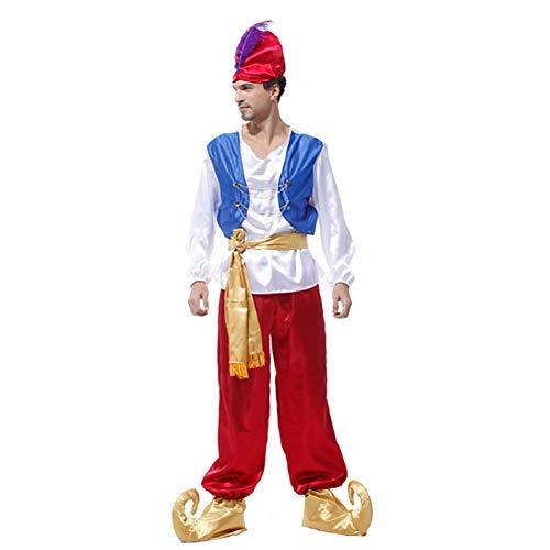IFANSTYLE Aladdin's Lamp Arabische Prins Set Cosplay Kostuum Halloween Carnaval Party Stage Kostuum Man Volwassen 5 Stuk Set