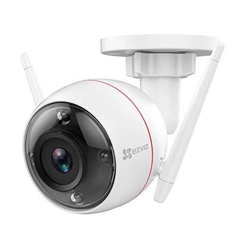 EZVIZ C3W Color Night Vision 1080p Überwachungskamera aussen WiFi 2.4Ghz Kamera (Sirene und Licht Alarm, Farbe Nachtsicht, Zwei-Wege-Audio, High-DB-Lautsprecher, Kompatibel mit Alex, Google Home)