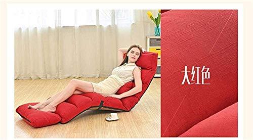 Ligero Plegable MultiFuncti OnLazy Sofá Silla, Sofá Cama Extraíble para Lavar Lazy Sofá Cama Chaise Lounge Respaldo Lounge Chair OcioRojo (Largo) 205x56x20cm (81x22x8inch)