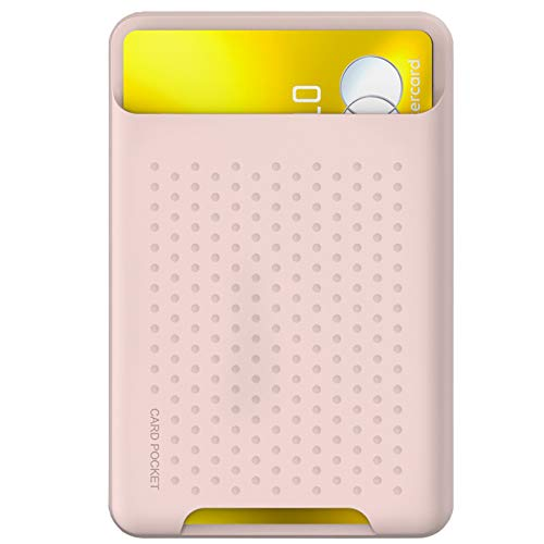 Card Holder for Back of Phone for MagSafe Magnetic Silicone RFID Wallet Compatible with iPhone 12/12 Pro/ 12 Mini/ 12 Pro Max
