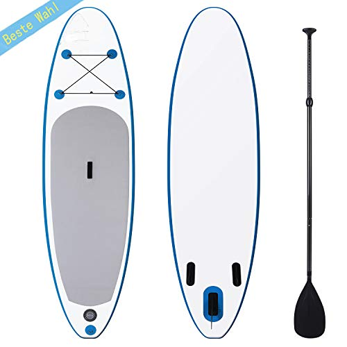 Photo of fiugsed Cruise Surfboard SUP Inflatable Stand Up Paddle Board Set with Transport Backpack Paddle High Pressure Air Pump Paddle Board for Adults, White, 305 x 76 x 15 cm